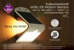EVE โคมโซล่าเซลล์แอลอีดี WSL-05 motion sensor 3.2 วัตต์ (เดย์ไลท์ 2 + วอร์มไวท์