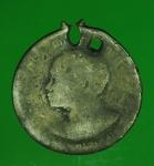 14854 เหรียญบรมราชาภิเษก ในหลวงรัชกาลที่ 6 พ.ศ. 2454 สภาพใช้ช้ำ  เนื้อเงิน 16
