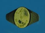 15706 แหวนหน้าลงถม วัดพระพุทธฉาย สระบุรี เนื้ออัลปากา้า 81