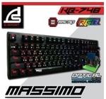 SIGNO E-Sport RGB Mechanical Gaming Keyboard กันนัำได้ 100% รุ่น MASSIMO KB-748
