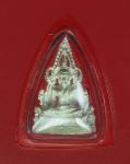 16505 รูปหล่อพระพุทธชินราช ด้านหลังตัวหนังสือ'ชินราช' เลี่ยมพลาสติก เนื้อเงิน 54