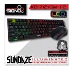 SIGNO ILLUMINATED Keyboard & Mouse Combo รุ่น SUNDAZE KB-712+GM-112