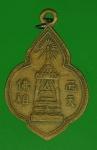 16588 เหรียญพระพุทธบาท วัดอนงค์ ปี 24XX เนื้อทองแดง 10.4