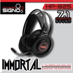 SIGNO Pro-Series HP-825 IMMORTAL 7.1 Surround Sound Gaming Headphone น้ำหนักเบา