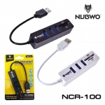 Nubwo NCR-100 USB 3.0 HUB 3 Port + Card Reader SD, TF