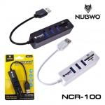 Nubwo NCR-100 USB 3.0 HUB 3 Port + Card Reader SD, TF