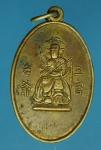 18122 เหรียญเทพเจ้าจีน หลังยันต์โป๊วข่วน เนื้อฝาบาตร 10.4