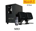 Music d.j. M-X3 Speaker 2.1Ch. ลำโพงสำหรับคอมพิวเตอร์ รองรับ Bluetooth/FM/SD/USB