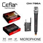 Ceflar ไมโครโฟนไร้สาย Wireless Microphone CM-796A มีตัวรับสัญญาณเสียงใช้เสียบต่อ