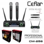 Ceflar CM-258 ไมโครโฟนไร้สาย Wireless Microphone ไมค์ลอยไร้สาย ไมค์ 2 ตัว พร้อมต