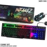 NUBWO INFAREZ NKM-300 ชุดคีบอร์ดมีไฟเกมส์มิ่ง + เม้าส์มีไฟเกมส์มิ่ง KEYBOARD AND