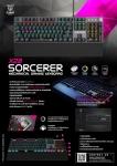 Nubwo X28 Sorcerer Gaming Keyboard คีย์บอร์ด ปุ่มแมคคานิคอล ปรับเปลี่ยนโหมดด้วยล
