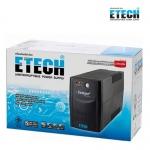 ETECH เครื่องสำรองไฟฟ้า UPS 1000VA / 500W มีไฟ LED แสดงสถานะ NORMAL, BATTERY, FA