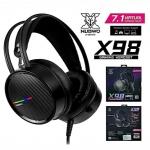 NUBWO X98 7.1 Surround Sound Gaming Headphone หูฟังเกมมิ่ง USB ไฟ RGB ลำโพงขนาดใ