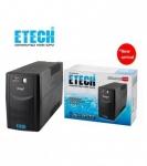 ETECH UPS 1000VA / 500W มีไฟ LED แสดงสถานะ NORMAL, BATTERY, FAULT THOR 'By Zirco