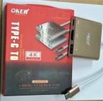 OKER TC-13A Type-C to HDMI, USB 3.0, 4K ULTRA HD ADAPTER