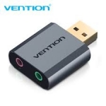 External Sound Card Vention USB Grey Metal Type 2.1/7.1 (VAB-S18-H)