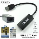 GLINK GL-015 ตัวแปลงสัญญาณ USB 3.0 TO RJ45 10/100/1000 Mbps รองรับ Windws 7/8/10