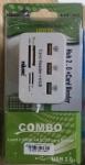 Magictech 3 Port USB HUB + Card Reader 3 Port USB 2.0 + 4 Port Card Reader (MT-0