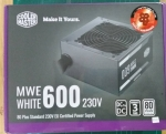 POWER SUPPLY (อุปกรณ์จ่ายไฟ) COOLER MASTER MWE WHITE 230V 600W CABLE 80 PLUS
