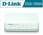Gigabit Switching Hub D-LINK (DGS-1005A) 5 Port 10/100/1000Mbps Unmanaged(4')