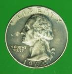21906 เหรียญกษาปณ์ ประเทศสหรัฐอเมริกา ปี 1964 เนื้อเงิน 17