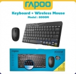 Keyboard Mouse Rapoo 8000M Combo Multi-mode Silent Wireless Bluetooth แป้นภาษาไท
