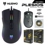 Mouse Macro NUBWO PLESIOS 6400dpi NM-89M USB Optical Mouse เมาส์เกมมิ่งมาโคร