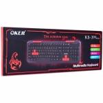 Keyboard OKER MULTIMEDIA (KB-399 PLUS) Black USB คีย์บอร์ดเกมมิ่ง