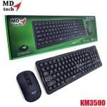 MD-TECH (2in1) Keyboard+Mouse RF-KM3500 Wireless Set ใช้เชื่อมต่อแบบไร้สาย ระยะ