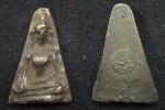 พระผงสุพรรณเนื้อชิน รุ่นอนุสรณ์ยุทธหัตถี 400 ปี ปี 2535 ตอกโค๊ต สวย