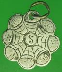 24531 เหรียญโป๊ยข่วน ยันต์แปดทิศ ยุค ปี 24XX ห่วงเชื่อม เนื้อเงิน 13