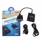 GLINK VGA To HDMI AUDIO (GL009) Converter ตัวแปลงสัญญานภาพ รุ่น GL-009