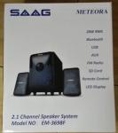 SAAG SPEAKER (ลำโพงบลูทูธ) SAAG METEORA EM-3698F 2.1 กำลังขับ 28W(BLACK)